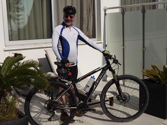 Mountain bike in Cyprus