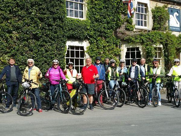 e-biking from Bibury