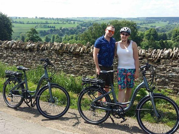 E-bike tour celebrating their honeymoon